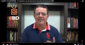 LIÇÃO 13 [JOVENS] – O Jovem e a Lei do Amor-Escola Dominical EBD