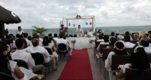 RETIRO DE CASAIS em Recife PERNAMBUCO – Momento da Renovação dos Votos do Casamento à Beira Mar